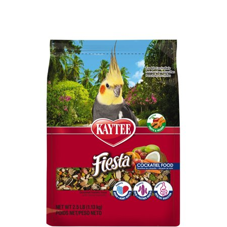 Fiesta Cockatiel Food, 2.5 poundAssorted fruits, veggies, shapes and textures to provide enrichment and mental stimulation By - Kaytee Fiesta Shape