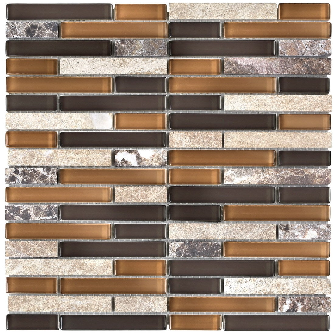 svp Glass Mosaic 12 x 12-inch Tile for Kitchen Backsplash...