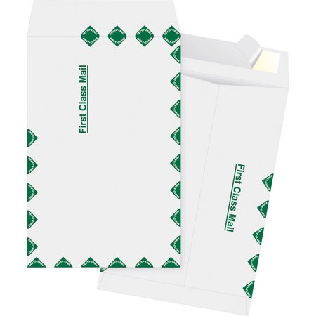Business Source, BSN65857, DuPont Tyvek 1st Class Catalog Envelopes, 100 / Box, White ()