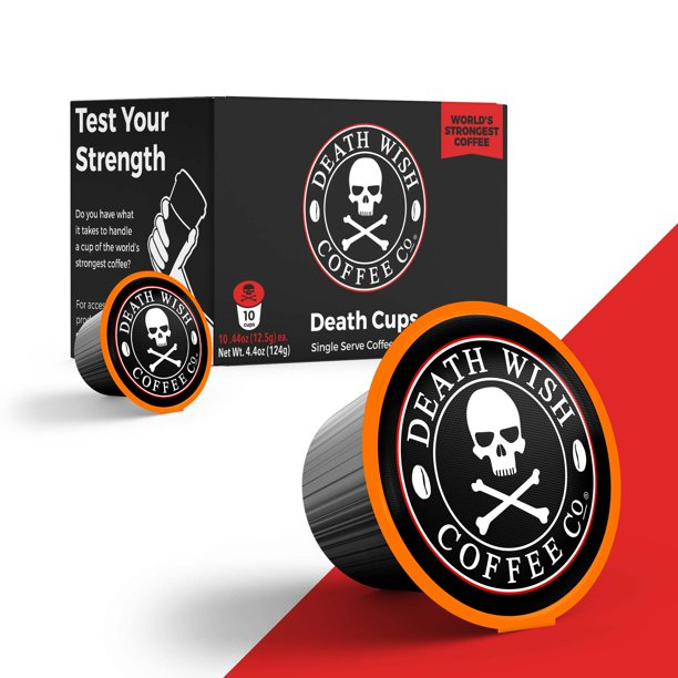 Death Wish Death Cups 10 Count Single Serve Coffee Pods World S Strongest Coffee Dark Roast Keurig Capsules K Cups Capsule Cup Usda Certified Organic Fair Trade Arabica And Robusta Beans Walmart Com