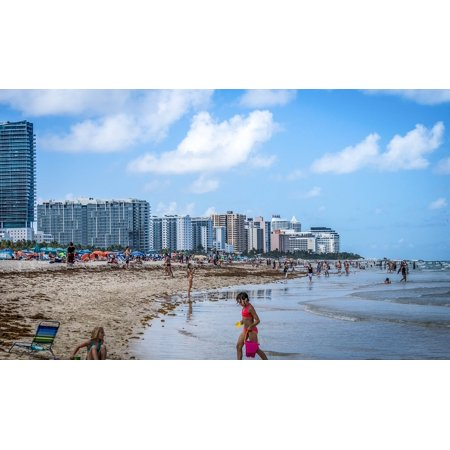 L N Stick Poster Of Ocean Florida Water Miami Sky South Beach 24x16