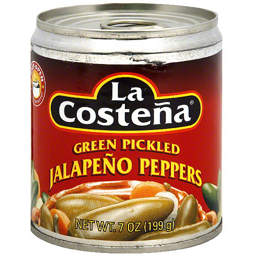La Costena Green Pickled Jalapeno Peppers, 7 oz (Pack of 12)