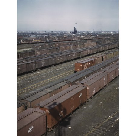 General view of part of the Proviso yard of the Chicago and Northwestern railroad Poster Print by Stocktrek Images