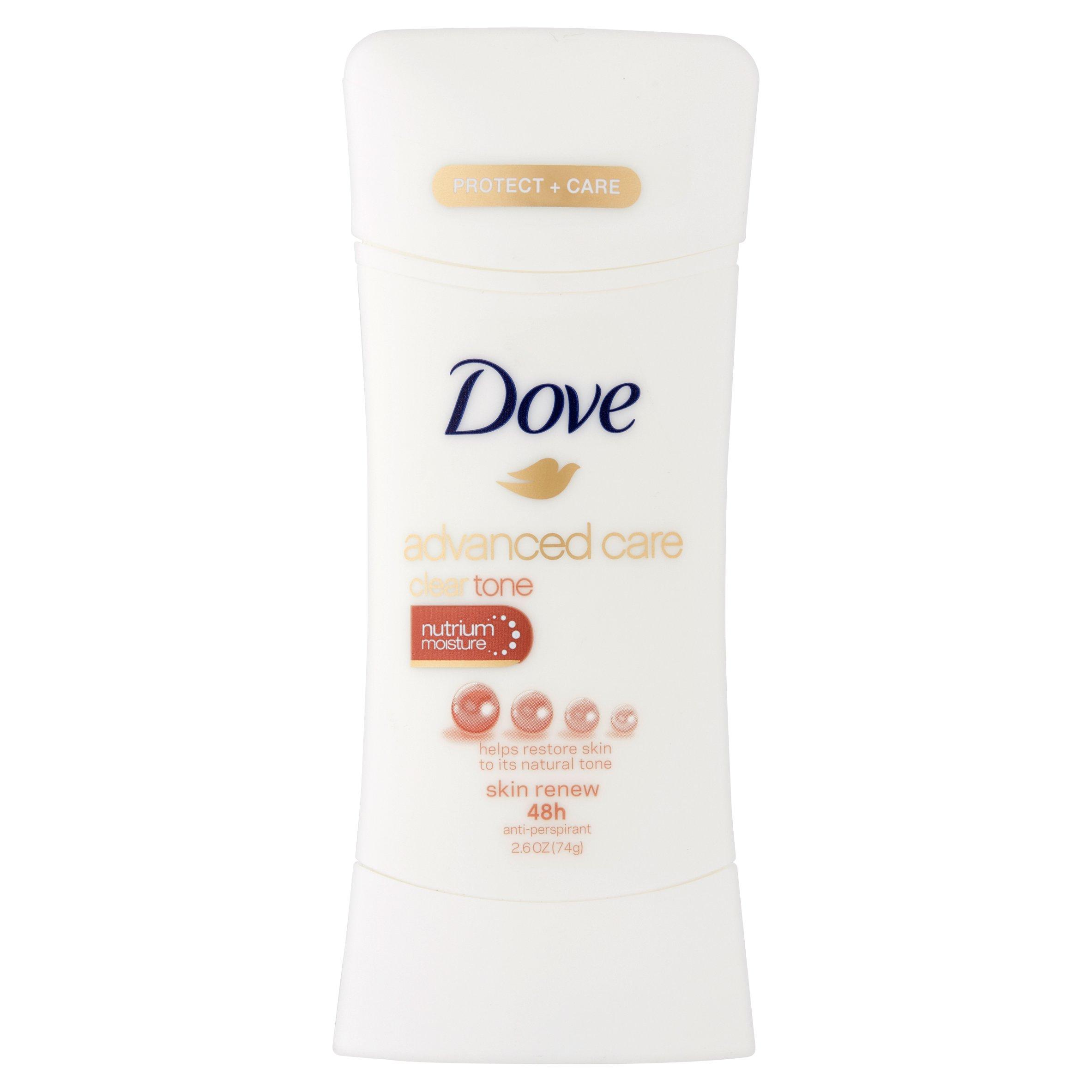 dove advanced care clear tone skin renew antiperspirant
