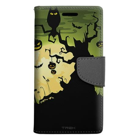 LG Escape 3 Wallet Case - Creep Green Halloween Case