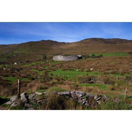 Staigue Fort at 2500 years old one of the best preserved Cashels or Forts in Ireland Ring of Kerry County Kerry Ireland Stretched Canvas - Panoramic Images (27 x