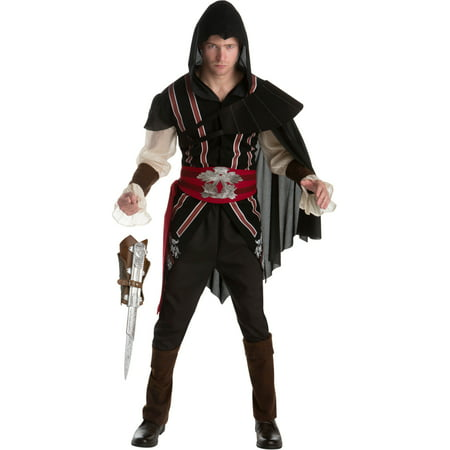 Assassin's Creed II Ezio Auditore Assassin Classic Mens Costume Bundle - Kids Assassin Creed Costume