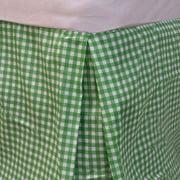 Bright Green Plaid Twin Bedskirt Geometric Bedding Accessory