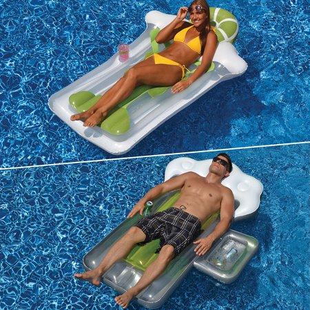 Swimline Inflatable Beer Mug and Margarita Float Combo Pack for Swimming Pools - Inflatable Beer Mug