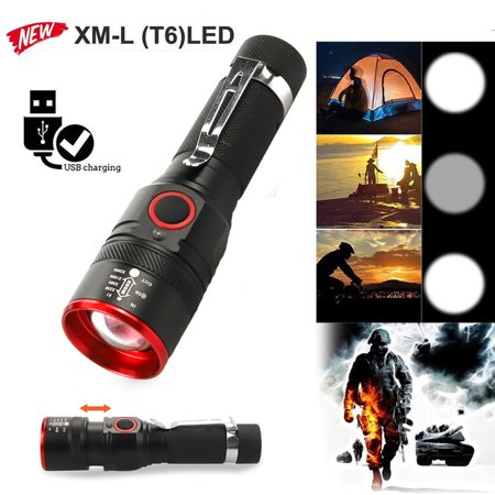 Rechargeable USB Mini Ultra Bright LED Torch With Beam Focusing Flashlight (Beam Led Torch)