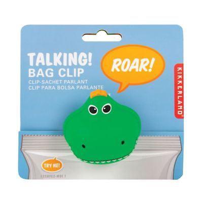 Kikkerland Talking T-Rex / Tyrannosaurus Dinosaur Snack Bag Clip - Dinosaur Snack Ideas