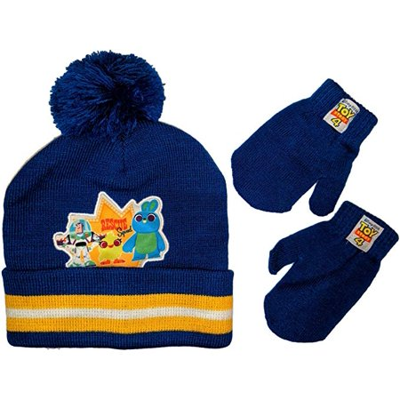 Disney Toy Story 4 Beanie Hat and Mittens Set, Age 2-4 ()