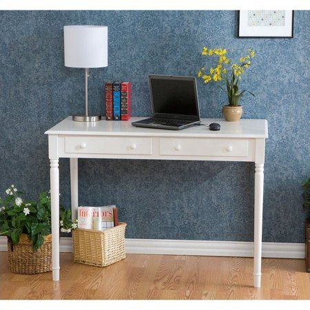 Southern Enterprises Wood Writing Computer Desk in Crisp White - image 6 de 9