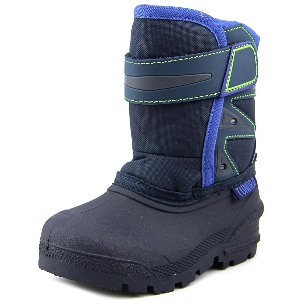 Tundra Oregon Toddler  Round Toe Synthetic Blue Snow Boot