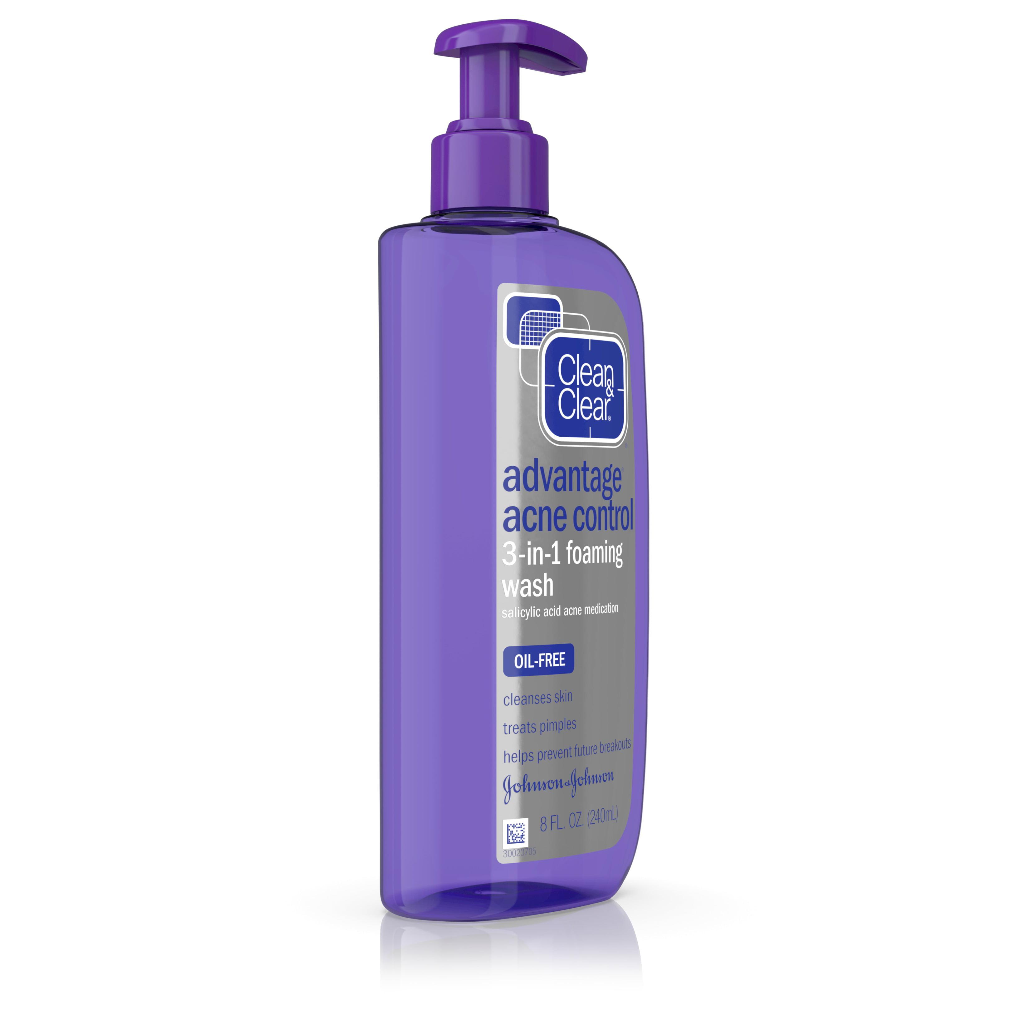 clean u0026 clear advantage acne control 3in1 foaming wash 8 fl oz walmartcom