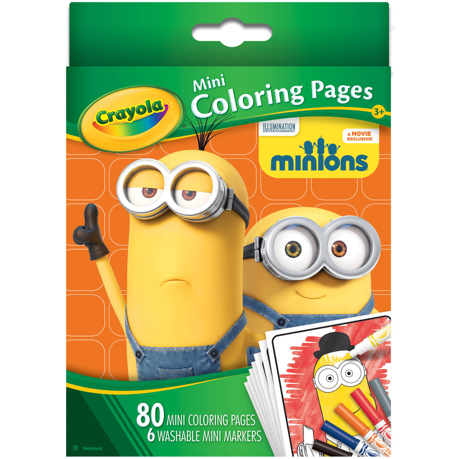 Crayola Mini Coloring Pages, Minions - Walmart.com