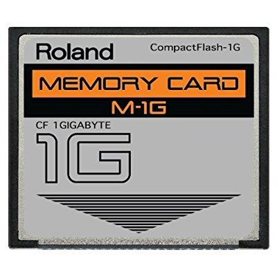 1gb roland m-1g compactflash cf memory card for mc-808, sp-404, sp-555, v-synth, fantom and more