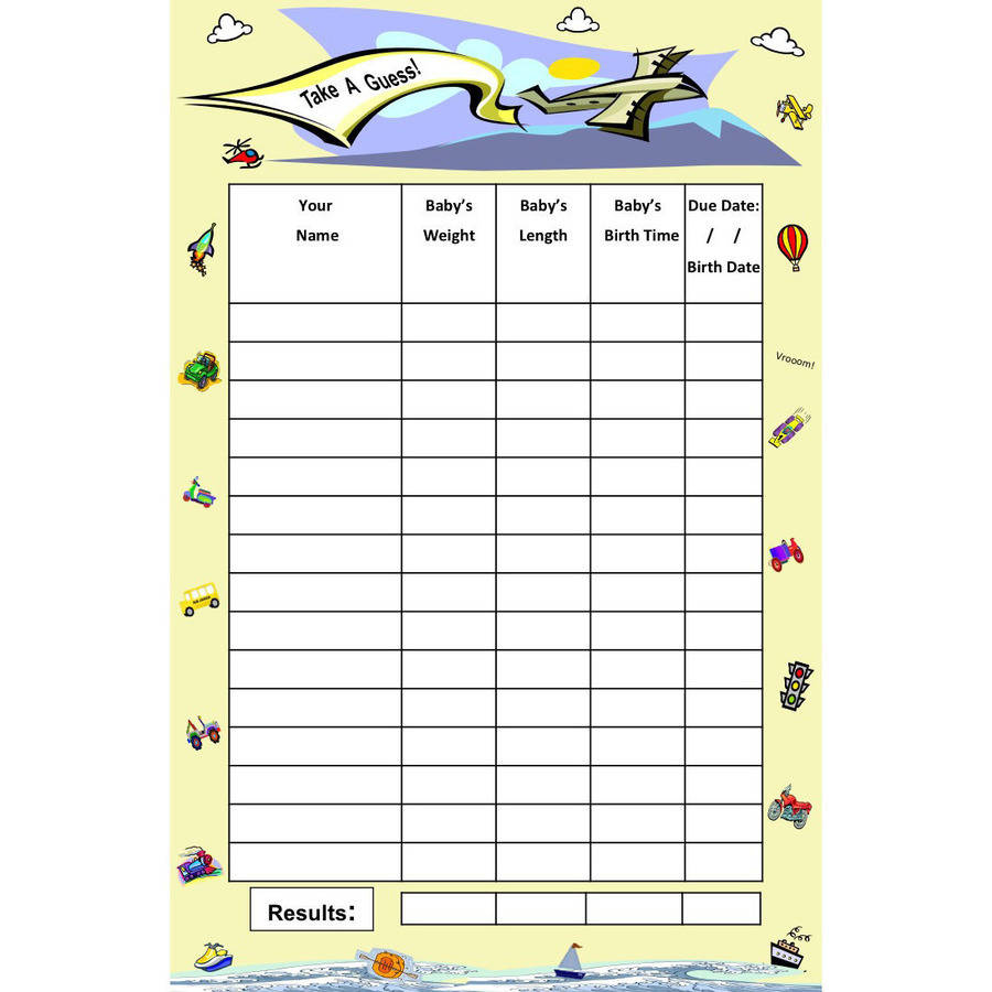 On the Go, Baby Guessing Game and Keepsake, Small, 15, Bundle Board
