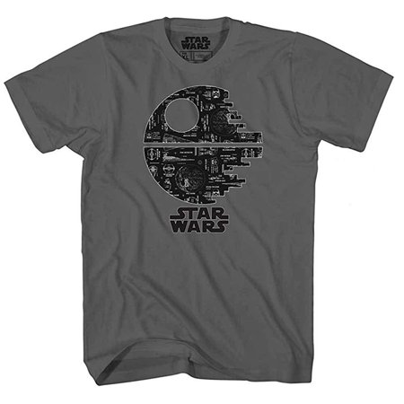 Death Star Glow in the Dark Tee Darth Vader Empire Luke Skywalker Princess Leia Han Solo Chewbacca R2D2 Adult Mens Graphic T-shirt Apparel](Leia And Han)