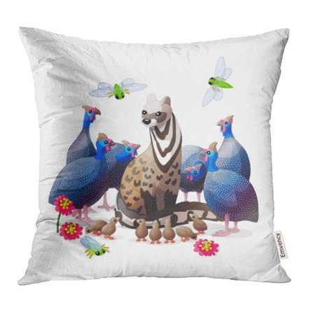 Woodland Faries (ARHOME Animals Nursery Wall Cartoon Characters Fairy World Woodland Story Graphic Pillow Case Pillow Cover 20x20 inch Throw Pillow)