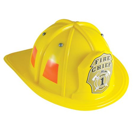 Jr. Firefighter Helmet, Yellow, Adjustable Youth Size, DURABLE AND QUALITY construction to last for hours and hours of play. By Aeromax