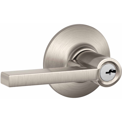 Schlage F51VLAT619 Satin Nickel Latitude Style Keyed Entry Lever