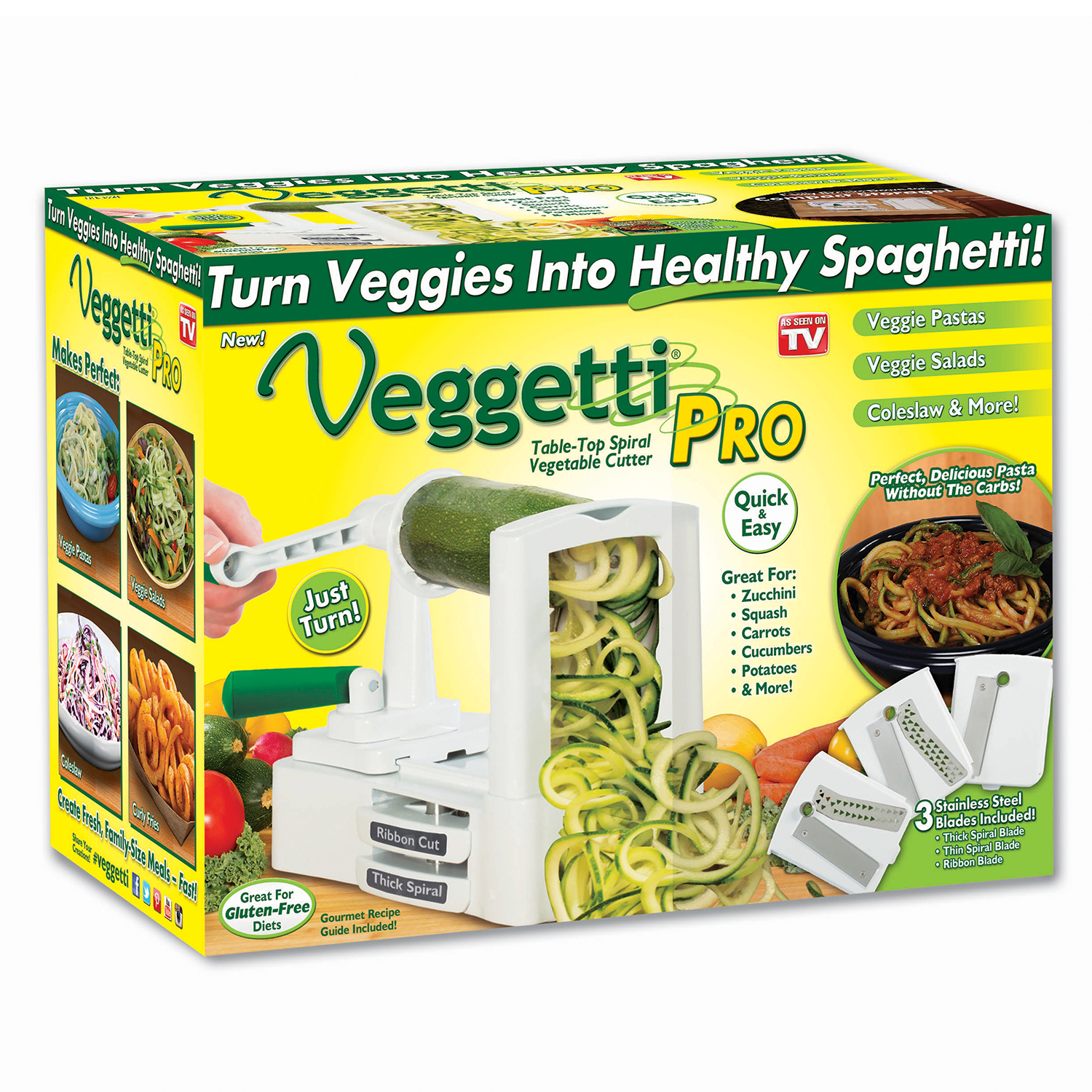 Veggetti Pro Vegetable Spiralizer As Seen on TV