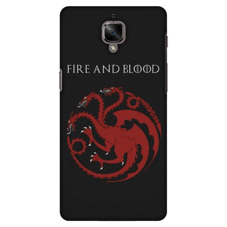 sale retailer ddbdb 45542 OnePlus 3T Case, OnePlus 3 Case - Team Targaryen, Hard Plastic Back Cover.  Slim Profile Cute Printed Designer Snap on Case with Screen Cleaning Kit