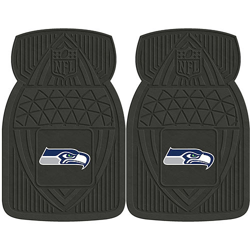 NFL 2-Piece Heavy-Duty Vinyl Car Mat Set, Seattle Seahawks