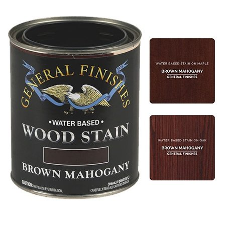 General Finishes Water Based Wood Brown Mahogany Stain, Quart