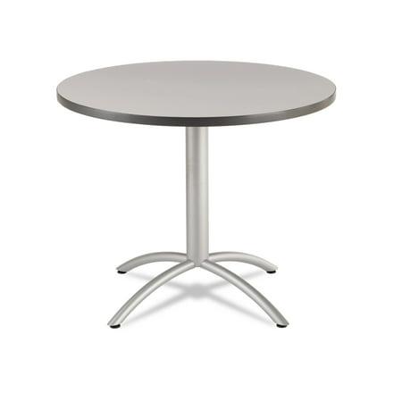 """Iceberg CaféWorks Café Table, 36"""" Round, Gray"""