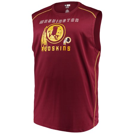 Washington Redskins Key (Men's Majestic Burgundy Washington Redskins Big & Tall Endurance Test Muscle Tank Top)
