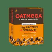 Oatmega Bar, 14 Grams of Protein, Chocolate Peanut Crisp, 1.8 Oz, 4 Ct