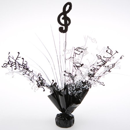 Black and White Music Note Centerpieces  - Music Themed Centerpieces