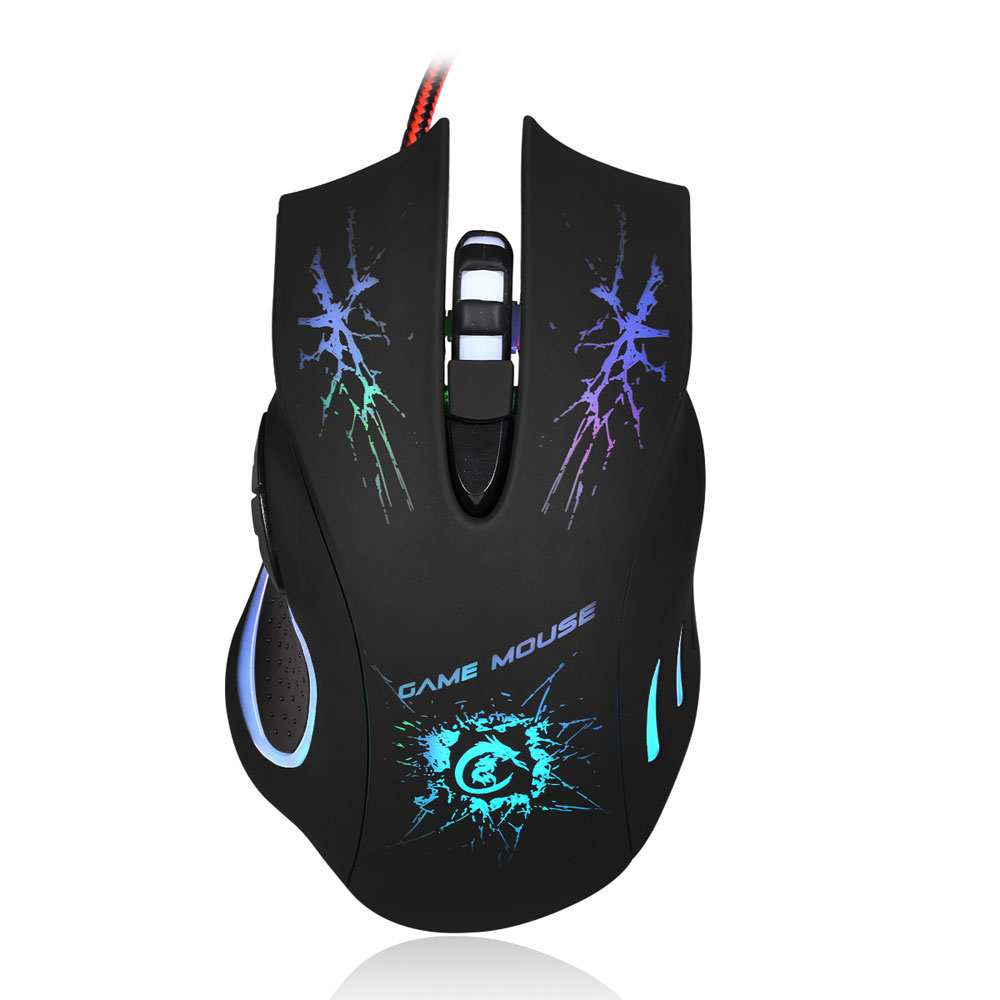 Ktaxon 5500DPI USB 2.0 Wired Gaming Mouse Backlight Illuminated Multimedia Mice for PC by Ktaxon