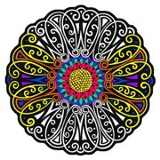 Flower Fuzzy Velvet Coloring Mandala - 20x20 Inches - Coloring Poster