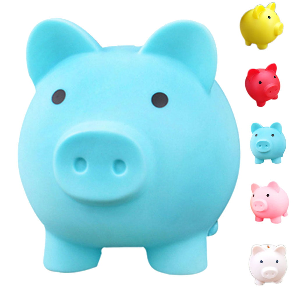 Unicoco Unicorn Coin Bank Blue Cartoon Saving Pot Box Kid Gift Home Decor Piggy Bank Unicorn Money Box