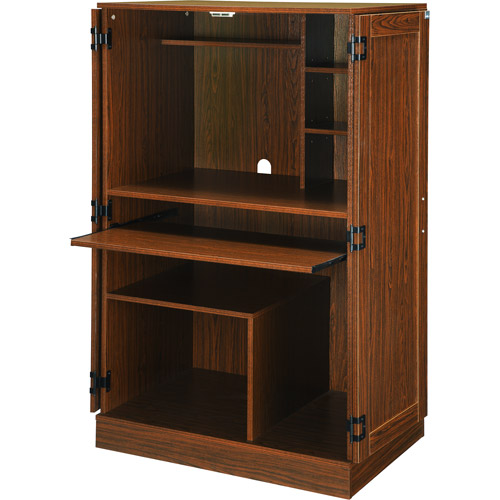 Planet 3 Hideaway Walnut Computer Armoire