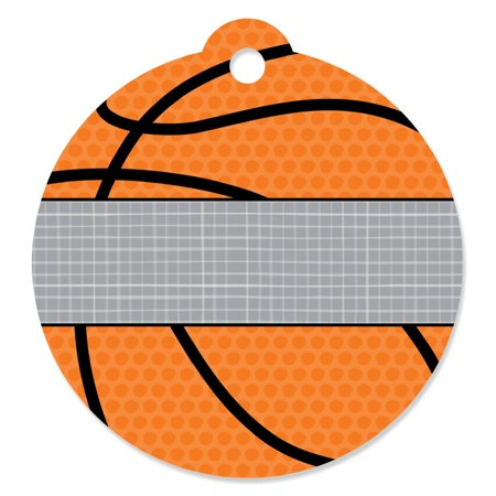 Nothin' But Net - Basketball -Party Favor Tags (Set of - Basket Tag