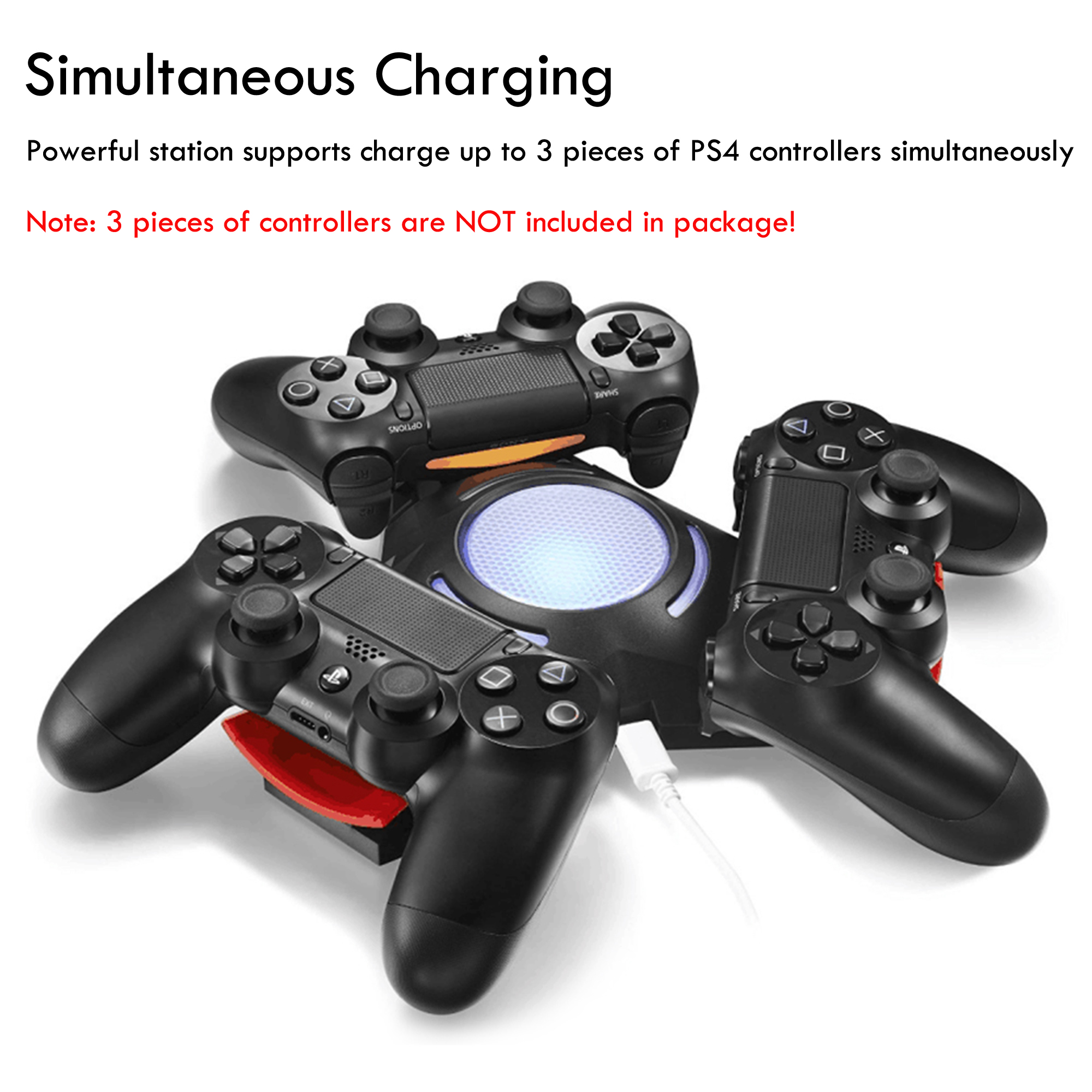 Ps4 Controller Dualshock Three Controller Triangle Dock For