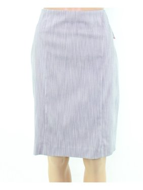 Alfani NEW Gray Rivet Jacquard Women's Size 8 Straight Pencil Skirt