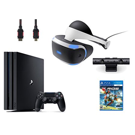 PlayStation VR Bundle 4 Items:VR Headset,Playstation Camera,PlayStation 4 Pro 1TB,VR Game Disc RIGS Mechanized Combat
