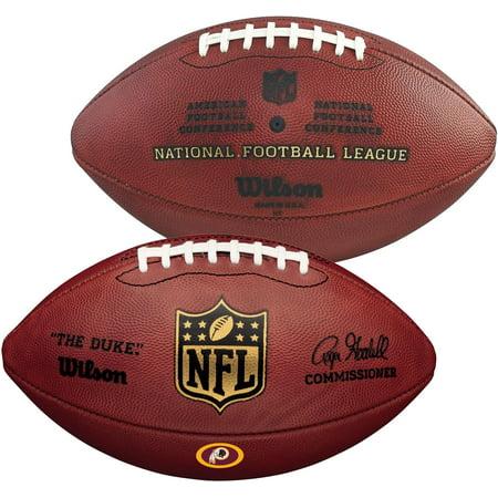 Wilson Washington Redskins Official Duke Football with Team Decal