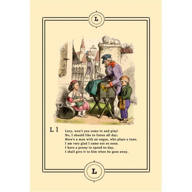 Buy Enlarge 0-587-09029-4P12x18 Little Lilys Alphabet- Lucy- Paper Size P12x18