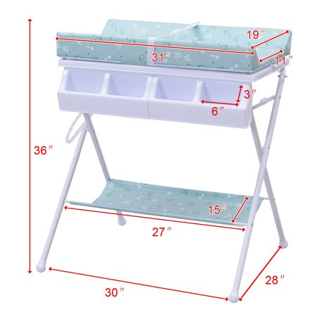 - Goplus Infant Baby Bath Changing Table Diaper Station Nursery Organizer Storage w Tube