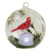 Gerson Color Changing LED Glass Globe Hummingbird