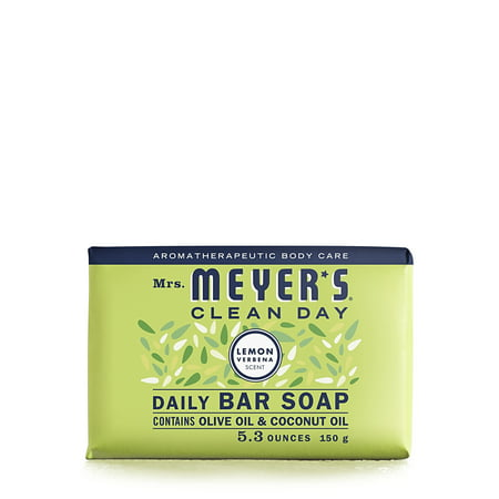 (3 pack) Mrs. Meyer's Clean Day Bar Soap, Lemon Verbena, 5.3 Oz