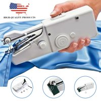 Mini Portable Cordless Electric Handheld Battery-Operated Single Stitch Fabric Sewing Machine Home Travel