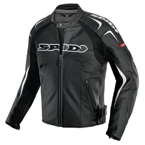 SPIDI Track Wind Vented Leather Jacket Black/White