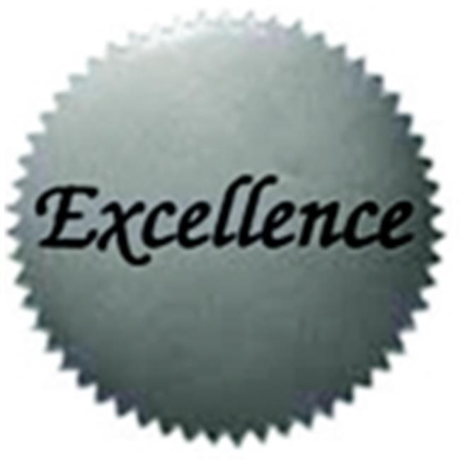 Hayes 2 inch Excellence Silver Foil Pressure Sensitive Sticker, Pack - 50